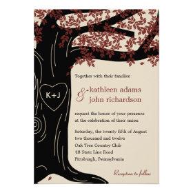 Oak Tree Wedding Invitation Custom Invitations