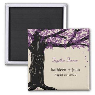 Oak Tree Wedding Magnet