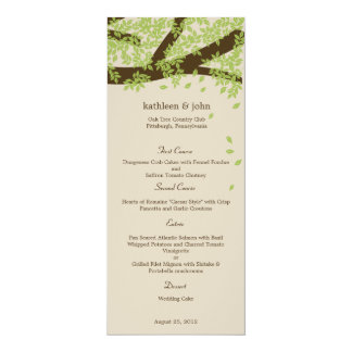 Oak Tree Wedding Menu Card