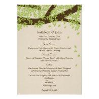 Oak Tree Wedding Menu Card Personalized Invites