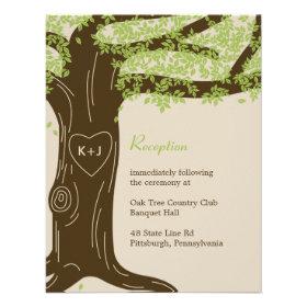 Oak Tree Wedding Reception Card Custom Invites