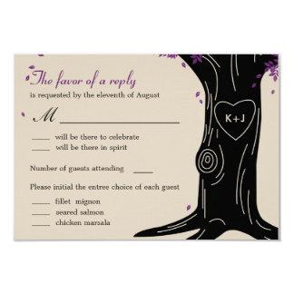 Oak Tree Wedding RSVP Card w/ Menu Selection