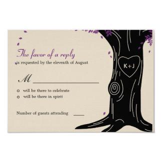 Oak Tree Wedding RSVP / Response Card Custom Invitation