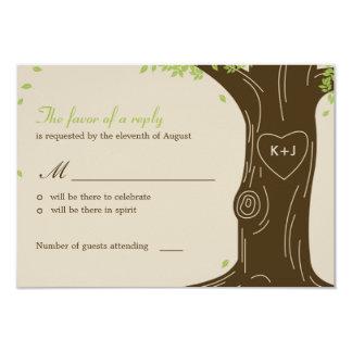 "Oak Tree Wedding RSVP / Response Card 3.5"" X 5"" Invitation Card"
