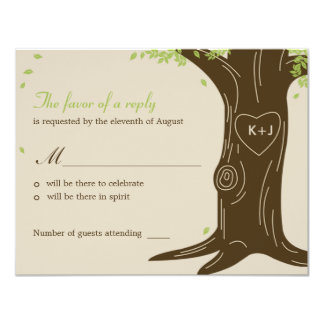 Oak Tree Wedding RSVP / Response Card Custom Announcement