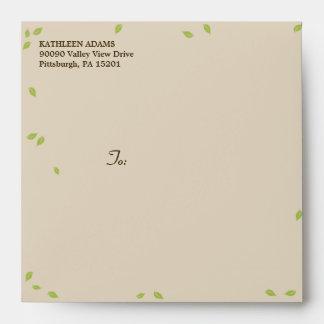 Oak Tree Wedding - Square Envelope
