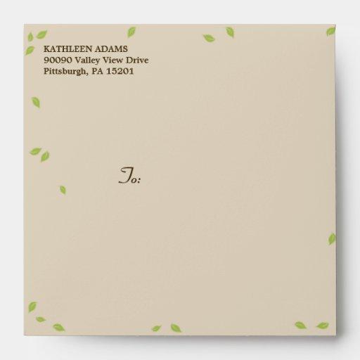 Oak Tree Wedding - Square Envelope Envelope
