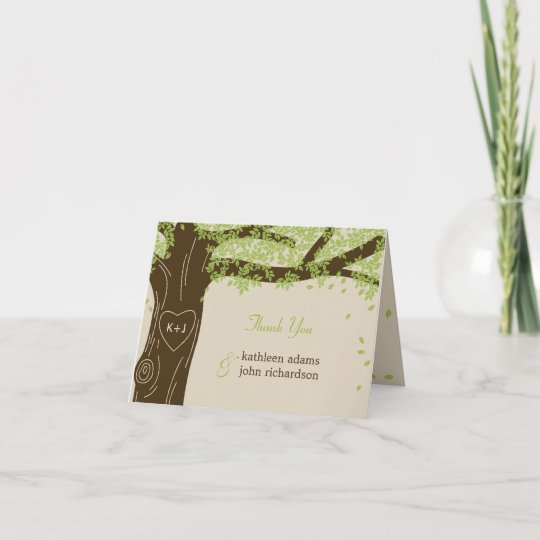 Wedding Thank You Note.Oak Tree Wedding Thank You Note Cards