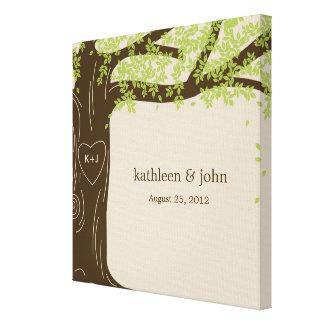 Oak Tree Wrapped Canvas Art - Green Canvas Print