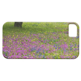 Oak Trees with field of Phlox, Blue Bonnets iPhone 5 Covers