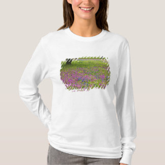 Oak Trees with field of Phlox, Blue Bonnets T-Shirt