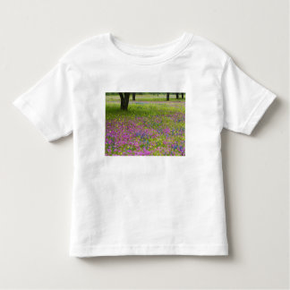 Oak Trees with field of Phlox, Blue Bonnets Toddler T-shirt