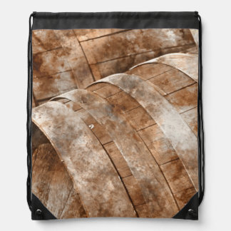 Oak Wine Barrel Drawstring Backpack