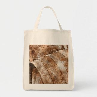 Oak Wine Barrel Tote Bag