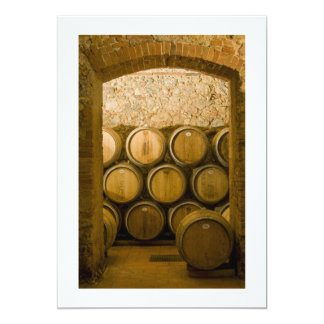 Oak Wine Barrels, Chianti, Italy Card