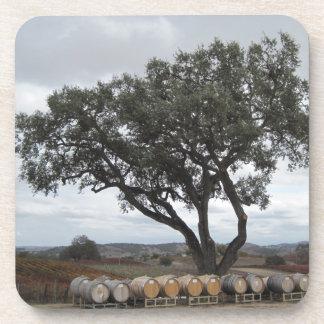 Oak with Wine Barrels, Doce Robles Beverage Coaster