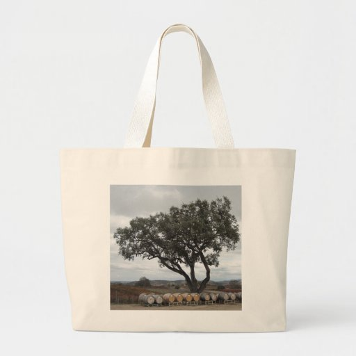 Oak with Wine Barrels, Doce Robles Canvas Bags