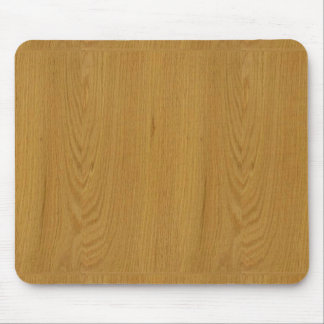 OAK WOOD finish buy BLANK blanc blanche + add TEXT Mouse Pad