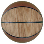 Oak Wood Grain Look Basketball