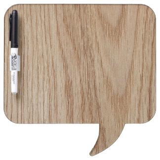Oak Wood Grain Look Dry Erase Board