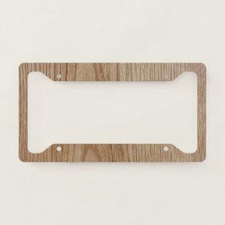 Oak Wood Grain Look License Plate Frame