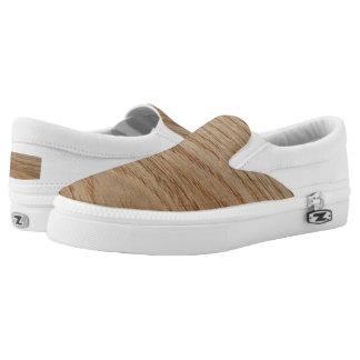Oak Wood Grain Look Printed Shoes