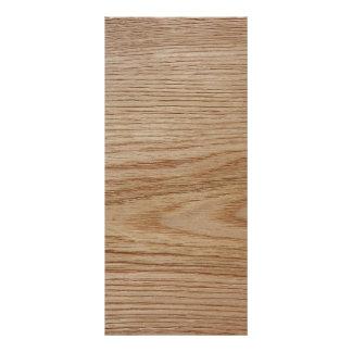 Oak Wood Grain Look Rack Card