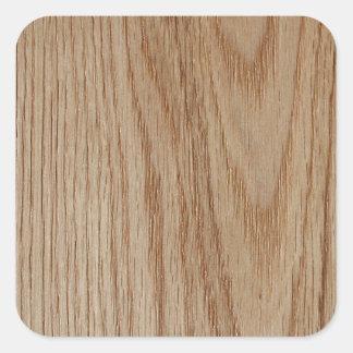 Oak Wood Grain Look Square Sticker