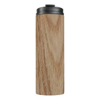 Oak Wood Grain Look Thermal Tumbler