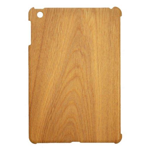 Oak wood grain printed photo cover for the iPad mini