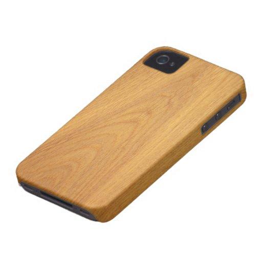 Oak wood grain texture BlackBerry Bold case