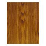 oak woodgrain customized letterhead