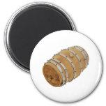 OakBarrelSide030609 copy 2 Inch Round Magnet