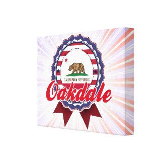 Oakdale, CA Impresión En Lienzo Estirada