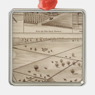 Oakdale Ranch Square Metal Christmas Ornament