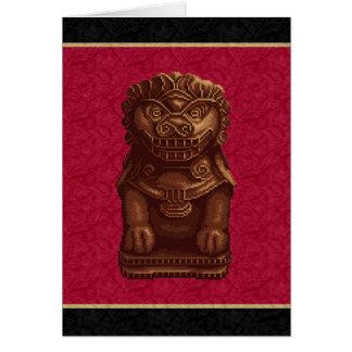 Oaken Lion Dog Pixel Art Card