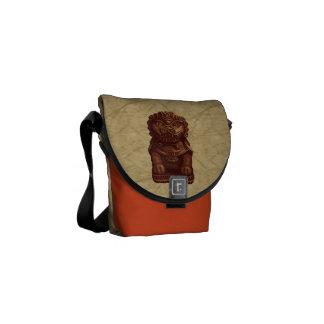 Oaken Lion Dog Pixel Art Messenger Bags