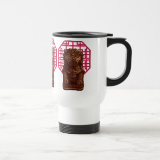 Oaken Lion Dog Pixel Art 15 Oz Stainless Steel Travel Mug