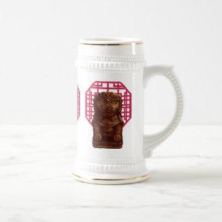 Oaken Lion Dog Pixel Art 18 Oz Beer Stein