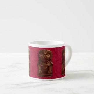Oaken Lion Dog Pixel Art 6 Oz Ceramic Espresso Cup