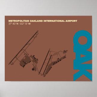 Oakland Airport (OAK) Diagram Poster