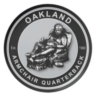 Oakland Armchair Quarterback Plate