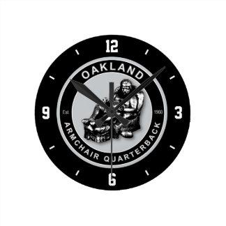 Oakland Armchair Quarterback Wall Clock
