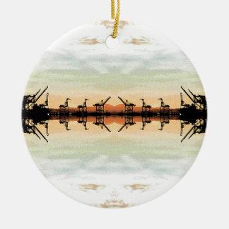 Oakland AT-ATs Cargo Cranes Ceramic Ornament