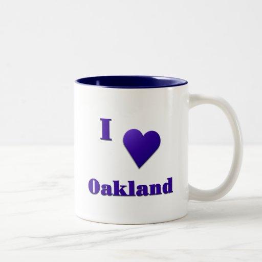 Oakland -- Azul de medianoche Taza De Dos Tonos