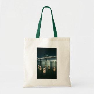 Oakland Bay Bridge @ Night Budget Tote Bag
