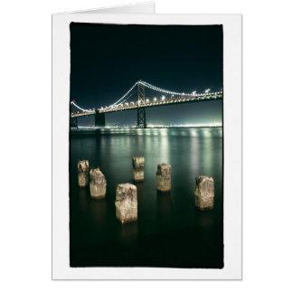 Oakland Bay Bridge @ Night Greeting Card