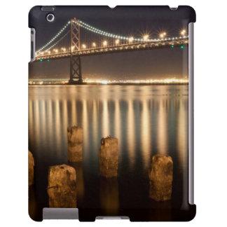 Oakland Bay Bridge night reflections.