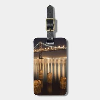 Oakland Bay Bridge night reflections. Bag Tag