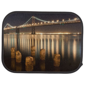Oakland Bay Bridge night reflections. Car Mat